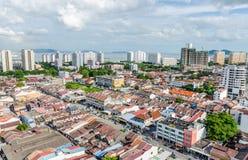 Skyline of Georgetown – Penang, Malaysia Royalty Free Stock Image