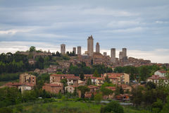 Skyline of Gimignano, Tuscany, Italy Royalty Free Stock Images