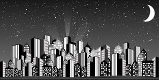 Skyline glamoroso Imagem de Stock Royalty Free