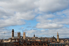Skyline Glasgow-Schottland Stockfotos
