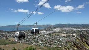 Skyline Gondola Cableway Rotorua - new Zealand stock video