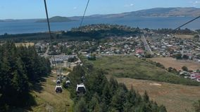 Skyline Gondola Cableway Rotorua - new Zealand stock footage