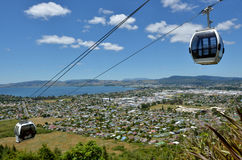 Skyline Gondola Cableway in Rotorua - New Zealand. ROTORUA, NZL - JAN 18 2015:Skyline Gondola Cableway,A 900 metre long Doppelmayr cableway system with a Royalty Free Stock Image