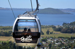 Skyline Gondola Cableway in Rotorua - New Zealand Royalty Free Stock Photo
