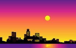 Skyline grande da cidade ilustração royalty free
