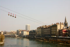 Skyline of Grenoble Stock Photography