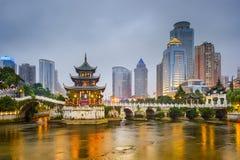 Skyline Guiyangs, China Stockfotografie