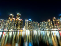 Skyline at Haeundae District Stock Images