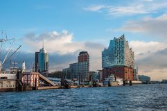 Skyline of Hamburg royalty free stock images