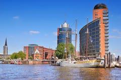 Skyline of Hamburg Port. Germany Royalty Free Stock Images