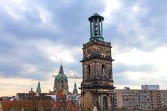 Skyline Hannovers Deutschland lizenzfreie stockfotos