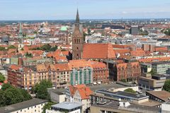 Skyline of Hanover, Germany. Royalty Free Stock Photography