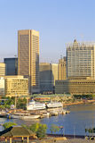 Skyline and Harbor of Baltimore, Maryland stock image
