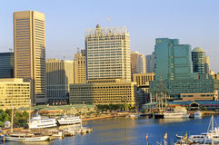 Skyline and Harbor of Baltimore, Maryland stock images