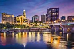 Skyline Hartfords, Connecticut Lizenzfreie Stockfotos