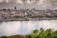 Skyline of Havanna. Havanna skyline, view towards Havanna Centro Royalty Free Stock Photography