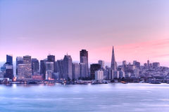 Skyline .HDR de San Francisco fotografia de stock royalty free