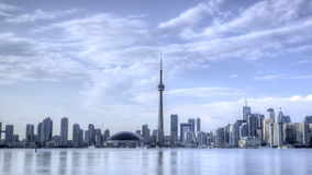 Skyline HDR Timelapse Toronto stock video footage