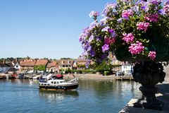 Skyline Of Henley On Thames In Oxfordshire UK With River Thames stock images