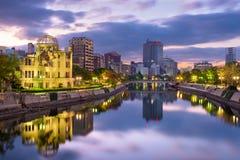 Skyline Hiroshimas, Japan Lizenzfreie Stockfotografie