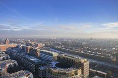 A skyline holandesa da cidade de cima de fotografia de stock royalty free