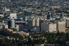 Skyline Hollywood, Kalifornien-Stadtbild in einer erhöhten Tagesansicht stockfoto