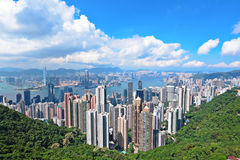 Skyline of Hong Kong Royalty Free Stock Photo