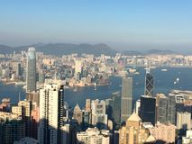 Skyline of Hong Kong. China. View from Victoria Peak Stock Images