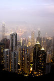 Skyline of Hong Kong City Stock Images