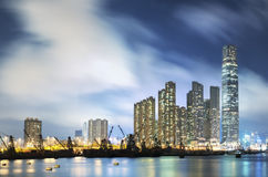 Skyline of Hong Kong city Stock Photo