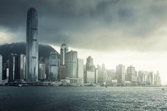 Skyline of Hong Kong Stock Photo