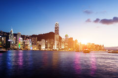 Skyline of Hong Kong Stock Image