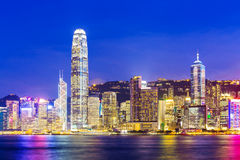 Skyline in Hong Kong Royalty Free Stock Photo