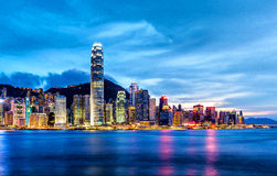 Skyline of Hong Kong Royalty Free Stock Photography