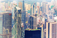 Skyline of Hong Kong seen from Victoria Peak Royalty Free Stock Photos