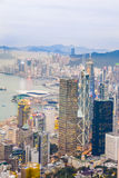 Skyline of Hong Kong seen from Victoria Peak Royalty Free Stock Image