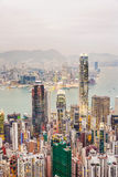 Skyline of Hong Kong seen from Victoria Peak Stock Images