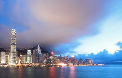 Skyline of Hong Kong Victoria Harbor Stock Photos