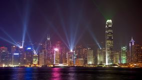 Skyline Hongkong China Night View royalty free stock image