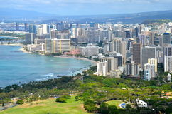 Skyline of Honolulu, Hawaii, USA. Stock Photos