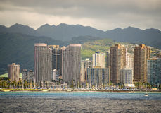 Skyline, Honolulu, Oahu Hawaii Stock Photos