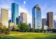 Skyline of houston in sunset Royalty Free Stock Images