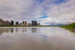 Skyline of Hsinchu city, taiwan Royalty Free Stock Images