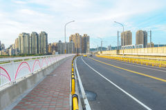 Skyline of hsinchu city in taiwan. View of cityscape from the highway Stock Photo