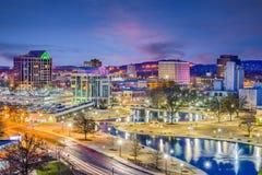 Skyline Huntsvilles, Alabama, USA stockfoto