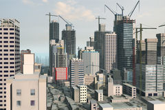 Skyline illustration stock image