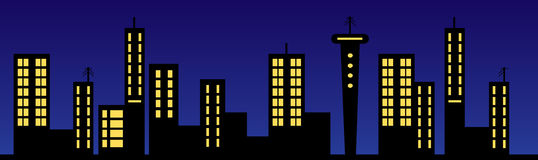 Skyline Illustration Royalty Free Stock Photos