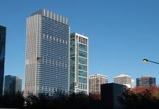Skyline in im Stadtzentrum gelegenem Chicago, Illinois Stockbilder