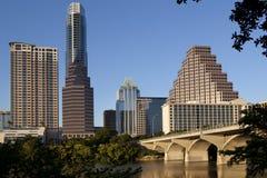 Skyline im Stadtzentrum gelegenen Austin-, Texas Stockbild