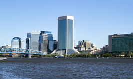Skyline im Stadtzentrum gelegenen Jacksonvilles, Florida Stockfotografie